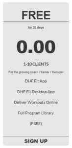 personal trainer app free 30 day trial from coachfit